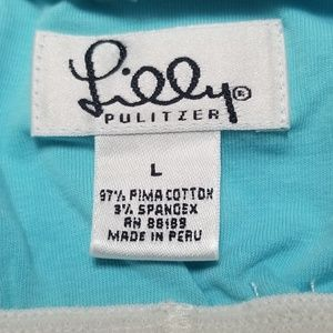 Lilly Pulitzer Tops - Lilly Pulitzer Blue Strapless Top Size Large